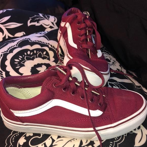 05b0548606 Vans Shoes - Old Skool Canvas Cordovan True White Vans Women7.5